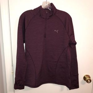 Women's Puma Purple Zip Up Thermal Large